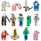 Series 1 Minecraft 3D Keyring Keychain Belt Bag Hangers Mine Craft toy Figures