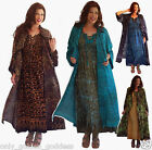 pick color & size 2 pc set maxi dress smocked lacing jacket long duster