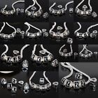Enamel Alphabet Letters Spacer Bead Silver Plated Large Hole Fit Charm Bracelet