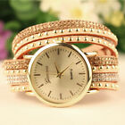 Vogue Women Geneva Stunning Crystal Multi-Wrap Faux Suede Rivet Dail Wrist Watch