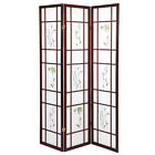 3 & 4 Panel Japanese Oriental Room Divider Hardwood Shoji Screen Privacy Wall