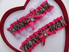 NEW Mossy Oak Camouflage Camo Hot Pink White Wedding Garter Prom Hunter Chick