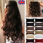 Uk Online Sell Long Curly Wavy Straight 18-28 inch Clip In Hair Extensions 1pc