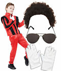 Boys Kids Childs Michael Jackson Jacko 80s Superstar Fancy Dress Costume Outfit