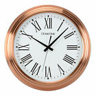 STUNNING LARGE 42CM ROUND COPPER KITCHEN WALL CLOCK ROMAN DIAL WALL CLOCKS