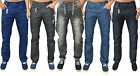 Mens Eto Jeans Regular Fit Straight Leg Tapered & Cuffed Denim Pants Trousers