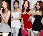 Sexy Women Solid Peplum Spaghetti Strap Waisted Camisole Tank Tops Shirt N556