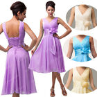 Short Bridesmaid Wedding Evening Party Prom Cocktail Dress PLUS SIZE 18 20 22 24