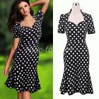 Chic Women Square Neck Business Party Casual Shift Summer Mermaid Tea Dress NB48