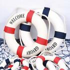 Home Decor Ornament Hanging Boat Lifebuoy Welcome Aboard Nautical Wall Life Ring