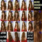 Brown Wig Streak Natural Long Curly Straight Wavy Synthetic Wig Women Fashion UK