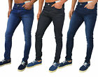 Mens Designer Enzo Jeans Super Skinny Stretch Denim Slim Tight Spray On EZ326