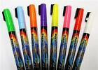 PACK OF 8 NEON FLUORESCENT DRY WIPE LIQUID CHALK MARKER BLACKBOARD WINDOW PENS