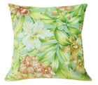 AF213a Colorful Lily on Pale Sage Cotton Canvas Cushion Cover/Pillow Custom Size