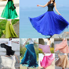 Vintage Fashion Womens Girls Chiffon Dress Dress Retro Long Maxi Skirt 17Colors