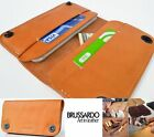 Luxus ECHT LEDER Handy Brief Tasche Schutz Hülle Case Cover Etui Apple iPhone 6