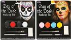 Day of the Dead Spanish Mexican Sugar Skull Face Makeup Kit Set Halloween NEW