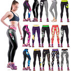 Women's Athletic Yoga Sport Compression Pants Graphic Printed Stretchy Leggings