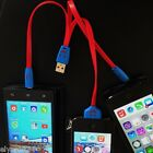 USB Universal Mobile Charger iphone 4,5,6  ipad, Samsung,  Flikering LED Lights