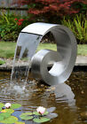 Ammonite Stainless Steel Cascade Water Feature Curly Swirly Fountain Cascade