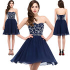 Sexy Womens Short Beaded Homecoming Bridesmaid Evening Party FORMAL Prom Dresses