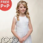 Communion dress white embroidered
