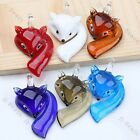 1pc Lampwork Glass Clever Sexy Fox Charms Bead Pendant For Chain Cord Necklace