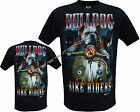 Bulldog Bike Riders Motorbikes Dogs Canine Wild T Shirt Front & Back Print M-XL