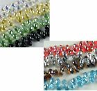 50pcs Crystal 3D Drop Shaped Mixed Beads 12x6mm AM32 AM33