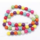 Howlite Turquoise Gemstone Round Charms Spacer Beads Jewelry Making 4mm-12mm