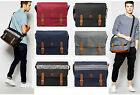 Mens MI PAC Messenger Satchel Shoulder Canvas School College Laptop Tote Bag New