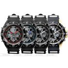 1pc Mens Casual Stopwatch Black Rubber Band Wrist Quartz Watch Fashion Style New