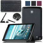 Leather Cover Case with Stand + Bluetooth Wireless Keyboard for LG Gpad F 8.0