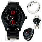 Mens Minimal Plated Stainless Metal Sporty Round Analog Quartz Wrist Watch
