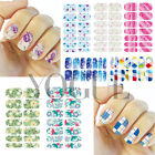 DIY Nail Art Stickers Wraps 3D Water Transfer Decals Polish Decals Tips Foils