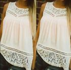 Sexy Fashion Womens Summer Lace Vest Top Sleeveless Blouse Casual Tank T-Shirt