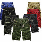 Men Casual Military Army Cargo Combat Camo Camouflage Overall Shorts Sport Pants