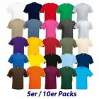 5er 10er Fruit of the Loom Herren T-Shirt Sets S M L XL XXL 3XL 4XL 5XL TOP