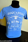 BNWT DSQUARED 2 NEW COLLECTION'15 Made in ITALY blue T-shirt, ANY SIZE