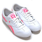 Reebok Womens Classic Shoes Lucky Wish V47671 Pink White Leather Sneakers New