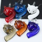 Cute Clever Fox Lampwork Glass Pendant Beads Animal Murano Fit Necklace Jewelry