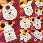 Personalised Baby Shower Birthday Christening Favour Thank You Tags/ Gift Tags