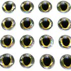 3D Eyes Silver Gold Holographic FishEyes for Fly Tying Lures Craft Eyes 3/4/6mm
