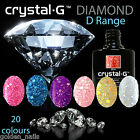 Crystal-G NEW DIAMOND SPARKLES GLITTER Gel Nail Polish UV LED Varnish Soak Off
