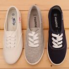BN Womens Comfort Casual Walking Canvas Flats Shoes Loafers Slip-on 4 COLORS