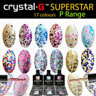Crystal-G NEW SEQUINS Colour Range Gel Polish UV LED Nail Varnish Soak Off 8ml