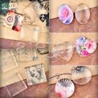New Clear Transparent Cabochons Glass Flatbacks Fit Settings Round Domed Cover