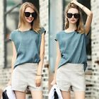 Wear To Work Two Pieces Top Shirt Blouse Women's Set Contrast Shorts Hot Pants