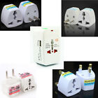 World Power Plug Adaptor Convertor Australia Euro 2 3 Pin Round Flat All in one