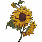 Sunflower Embroidered Iron / Sew On Patch Dress Jeans Flower Embroidery Badge